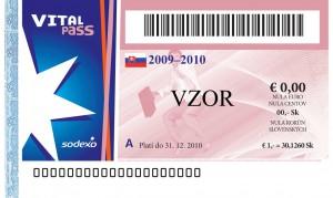 Sodexo Vital Pass vzor poukážky