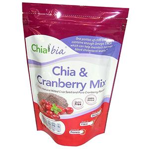 Chia Bia - mleté semienka 260g - Chia s brusnicovým práškom