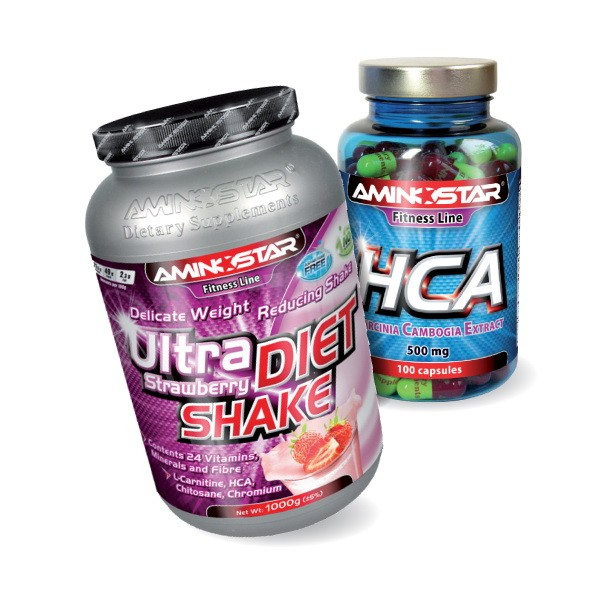 AMINOSTAR - Ultra Diet Shake 1000g + HCA  100 kps iba za 1,30 EUR!