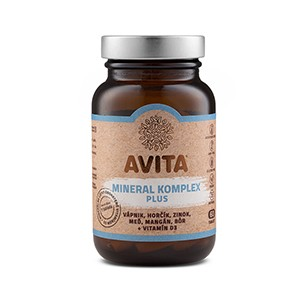 Avita Mineral Komplex Plus 60tbl - Výživový doplnok - komplex minerálnych látok obohatený vitamínom D