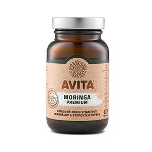 Avita Moringa Premium 60kps - Výživový doplnok - 100% sušina z listov stromu Moringa oleifera.