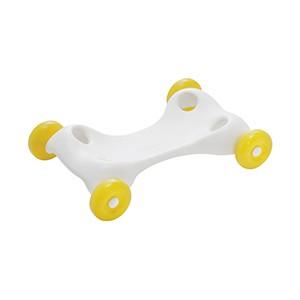 Báza s kolieskami Speedy Base pre Rody, Raffy, Gyffy - vďaka tejto odnímateľnej základni sa dá skákadlo jednoducho upraviť. Stačí vložiť nohy do otvorov a razom sa skákadlo zmení na zábavné a dynamické odrážadlo.