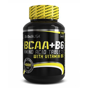 BioTech USA - BCAA+B6 100tbl - tablety s obsahom aminokyselín s rozvetveným reťazcom obohatené o vitamín b6