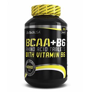 BioTech USA - BCAA+B6 200tbl - tablety s obsahom aminokyselín s rozvetveným reťazcom obohatené o vitamín b6
