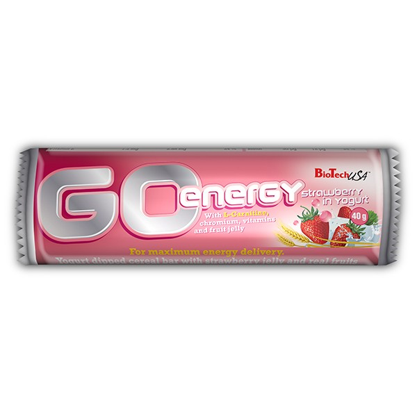 BioTech USA - GO Energy Bar (jahoda)