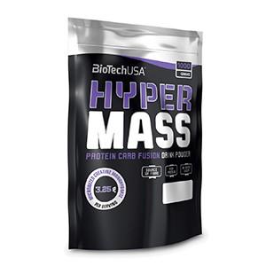 BioTech USA - Hyper Mass 1000g - Profesionálny gainer pre zvýšenie telesnej hmotnosti s vysokým obsahom bielkovín a sacharidov, s pridaným komplexom vitamínov, esenciálnych aminokyselín a kreatínom.
