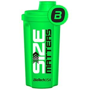 """Shaker BioTech USA Neon zelený """"Size Matters"""" 700ml - Profi šejker 700ml neónový zelený s mriežkou, v ktorom sa perfektne rozmieša každý proteínový či sacharidový nápoj."""