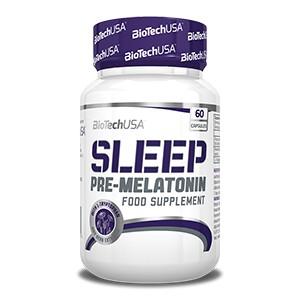 BioTech USA - Sleep 60 kps - prípravok na podporu tvorby melatonínu s aminokyselinou L-tryptofán a extraktom z bylín a ovocia.