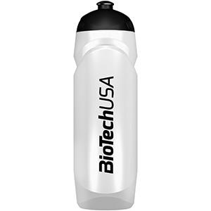 Športová fľaša biela BioTech USA 750ml - nová športová fľaša 750 ml so závitom, gumeným športovým uzáverom a logom BioTech USA.