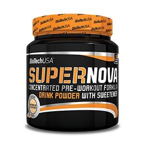 BioTech USA - SuperNova 282g - koncentrovaná predtréningová formula v prášku s 13 aktívnymi látkami bez sacharidov
