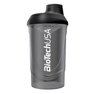 Shaker Wave BioTech USA dymový priesvitný 600ml - nový, vylepšený šejker WAVE v priesvitných farbách pre prípravu nápojov.