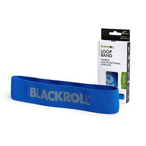 Slučka BLACKROLL Loop Band modrá - stupeň 5 - silná záťaž. Slučka na posilňovanie z veľmi odolného pružného textilného materiálu.
