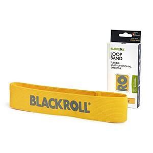 Slučka BLACKROLL Loop Band žltá - stupeň 1 - veľmi slabá záťaž. Slučka na posilňovanie z veľmi odolného pružného textilného materiálu.