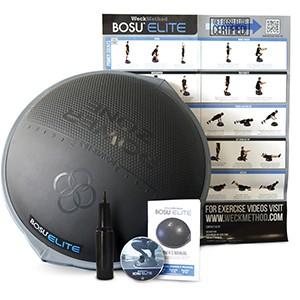 BOSU Elite Balance Trainer je najnovšia inovácia tejto všestrannej cvičebnej pomôcky. Novinkou oproti verzii Home a PRO je predovšetkým protišmykový povrch, extrémne zosilnená konštrukcia a špeciálne navrhnutý povrch plášťa deleného na cvičebné zóny.