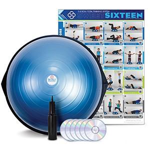 BOSU Home Balance Trainer blue. BOSU je možné využiť ako trampolínu alebo balančnú plošinu. Fenomenálny nápad kondičného experta Davida Wecka umožňuje trénovať svalovú silu, rovnováhu, koordináciu, strečing a spaľovanie kalórií.