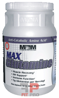 MAX MUSCLE - MAX GLUTAMINE, 1000g