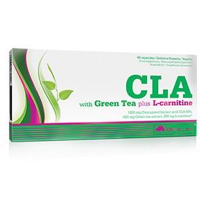 Olimp - CLA + Zelený čaj + L-carnitine 60kps - nestimulačný spaľovač tukov