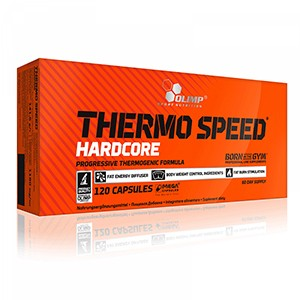 Olimp - Thermo Speed Hardcore 120 kps - spaľovač tukov s najpokročilejším zložením látok od Olimp, ktoré podporujú kontrolu telesnej hmotnosti.