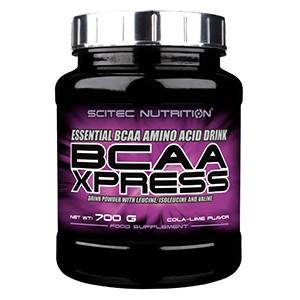 SCITEC NUTRITION - BCAA Xpress 700g - cola-limetka - Prášok na prípravu nápoja s obsahom rozvetvených aminokyselín BCAA k budovaniu svalovej hmoty.