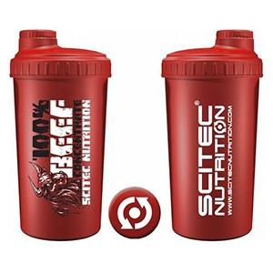 Shaker Scitec Nutrition Beef červený 700ml - profesionálny šejker 700ml na závit s kónickým sitkom vo vnútri, ktoré pomáha dokonale rozmiešať nápoje, najmä proteinové či sacharidové.