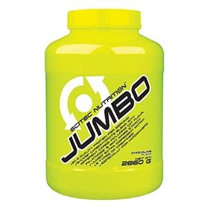 SCITEC NUTRITION - Jumbo 2860g - čokoláda. Nápojový prášok na zväčšovanie svalového objemu zložený z anabolizujúceho matrixu, bielkovín a uhľohydrátov s prírodným sladidlom.