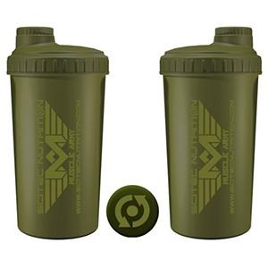 Shaker Scitec Nutrition Muscle Army Woodland zelený 700ml - profesionálny šejker 700ml na závit s kónickým sitkom vo vnútri, ktoré pomáha dokonale rozmiešať nápoje, najmä proteinové či sacharidové.