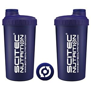 Shaker Scitec Nutrition modrý 700ml - profesionálny šejker 700ml na závit s kónickým sitkom vo vnútri, ktoré pomáha dokonale rozmiešať nápoje, najmä proteinové či sacharidové.