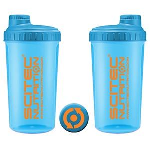 Shaker Scitec Nutrition Neon modrý 700ml - profesionálny šejker 700ml na závit s kónickým sitkom vo vnútri, ktoré pomáha dokonale rozmiešať nápoje, najmä proteinové či sacharidové.