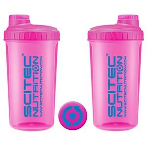 Shaker Scitec Nutrition Neon ružový 700ml - profesionálny šejker 700ml na závit s kónickým sitkom vo vnútri, ktoré pomáha dokonale rozmiešať nápoje, najmä proteinové či sacharidové.