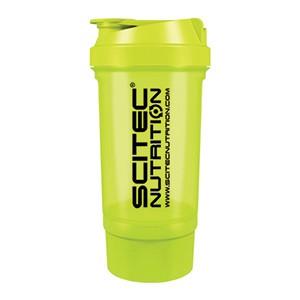 Shaker Traveller Scitec Nutrition zelený priesvitný 500ml - vysokokvalitný šejker Scitec Traveller 500ml s mriežkou a oddeleným priečinkom na kapsuly, tablety či prášok, v ktorom sa perfektne rozmieša každý proteínový či sacharidový nápoj.
