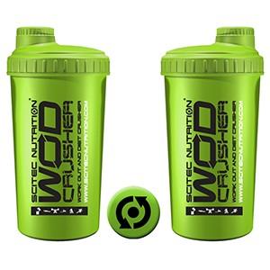 Shaker Scitec Nutrition WOD Crusher zelený 700ml - profesionálny šejker 700ml na závit s kónickým sitkom vo vnútri, ktoré pomáha dokonale rozmiešať nápoje, najmä proteinové či sacharidové.