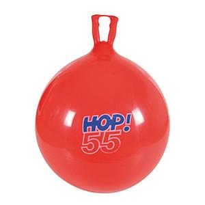 Skákadlo Hop 55cm červené - dynamická hračka, ktorá podporuje koordináciu a rovnováhu detí tým, že spája zábavu a zdravú pohybovú aktivitu.