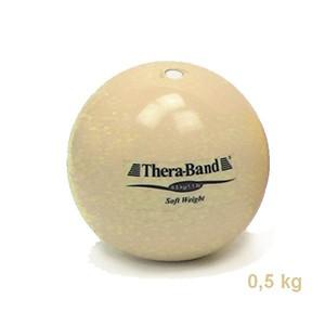 Medicinbal Thera-Band Soft Weights 0,5 kg béžový - polkilový medicinbal - Rehabilitácia, nácvik koordinácie, tréning výdrže a svalovej sily pre dospelých aj deti.