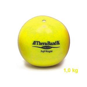 Medicinbal Thera-Band Soft Weights 1 kg žltý - kilový medicinbal - Rehabilitácia, nácvik koordinácie, tréning výdrže a svalovej sily pre dospelých aj deti.