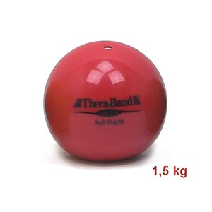 Medicinbal Thera-Band Soft Weights 1,5 kg červený - jeden a pol kilový medicinbal - Rehabilitácia, nácvik koordinácie, tréning výdrže a svalovej sily pre dospelých aj deti.