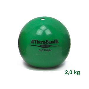 Medicinbal Thera-Band Soft Weights 2 kg zelený - dvojkilový medicinbal - Rehabilitácia, nácvik koordinácie, tréning výdrže a svalovej sily pre dospelých aj deti.