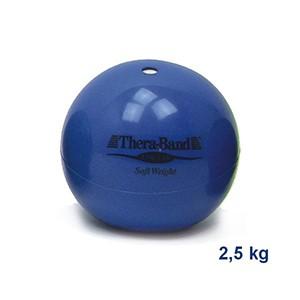 Medicinbal Thera-Band Soft Weights 2,5 kg modrý - dva a pol kilový medicinbal - Rehabilitácia, nácvik koordinácie, tréning výdrže a svalovej sily pre dospelých aj deti.