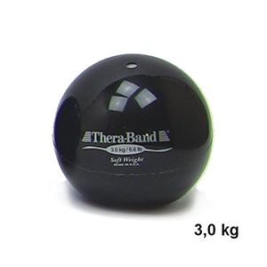 Medicinbal Thera-Band Soft Weights 3 kg čierny - trojkilový medicinbal - Rehabilitácia, nácvik koordinácie, tréning výdrže a svalovej sily pre dospelých aj deti.