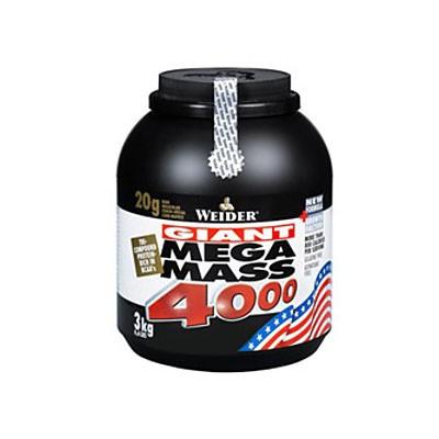 Gainer na objem - Weider - Giant Mega Mass 4000, 3000g - Najpredávanejší z gainerov pre rast svalov
