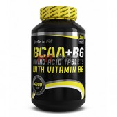 BioTech USA - BCAA+B6 340tbl - tablety s obsahom aminokyselín s rozvetveným reťazcom obohatené o vitamín b6