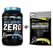 Akciový balíček BioTech USA - Iso Whey Zero 908 g + 100% Creatine Monohydrate 500g (sáčok)