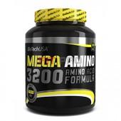 BioTech USA - Mega Amino 3200 500tbl - Aminokyselinová formula v tabletovej forme.