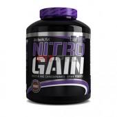 BioTech USA - Nitro Gain 2270g - Profesionálny gainer pre zvýšenie telesnej hmotnosti s vysokým obsahom bielkovín a sacharidov, s pridaným komplexom vitamínov, esenciálnych aminokyselín a kreatínom.