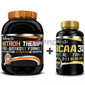Akciový balíček BioTech USA NitroX Therapy 680g + BCAA 3D 90kps