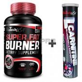 Akciový balíček BioTech USA - Super Fat Burner 100tbl + L-Carnitine 500mg (20 šumivých tbl)