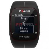 POLAR M400 HR - Športové hodinky s GPS - čierne