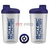 Shaker Scitec Nutrition priesvitný 700ml - profesionálny šejker 700ml na závit s kónickým sitkom vo vnútri, ktoré pomáha dokonale rozmiešať nápoje, najmä proteinové či sacharidové.