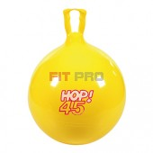 Skákadlo Hop 45cm žlté - dynamická hračka, ktorá podporuje koordináciu a rovnováhu detí tým, že spája zábavu a zdravú pohybovú aktivitu.