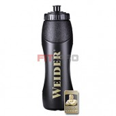 Športová fľaša čierna Weider 1000ml - profi športová fľaša 1000 ml so závitom, gumeným športovým uzáverom a logom Weider.