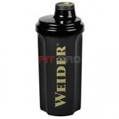 Shaker Weider čierny 700ml - profesionálny šejker 700ml na závit s kónickým sitkom vo vnútri, ktoré pomáha dokonale rozmiešať nápoje, najmä proteinové či sacharidové.